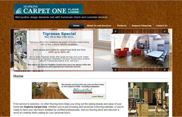 Hopkins Carpet One Website Before