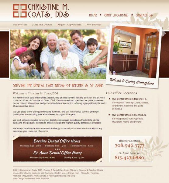 Christine M Coats DDS Website
