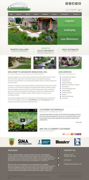 Advanced Irrigation Website After