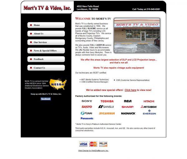 Mort's TV Repair- Before