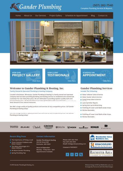 Gander Plumbing Website