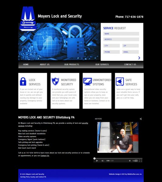 Moyer's Lock and Security Website Design