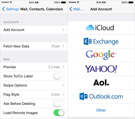 iOS Email Setup