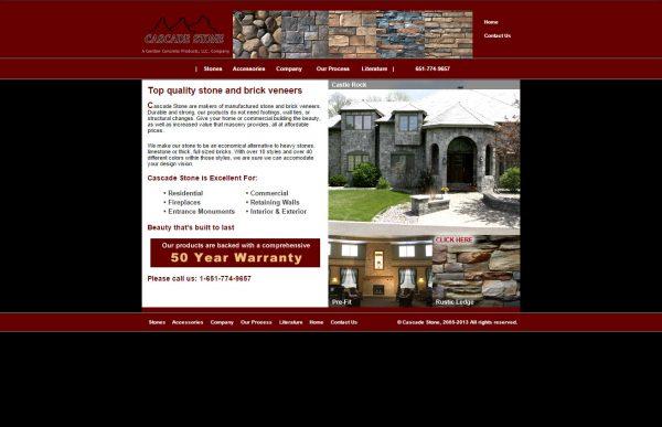 Cascade Stone Website Before