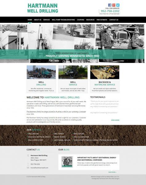 Hartmann Well Drilling Website After