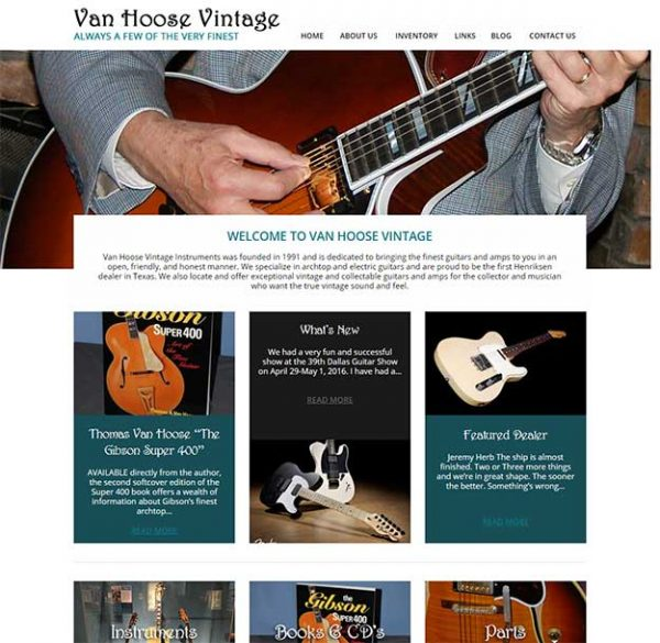 Van Hoose Vintage Website After