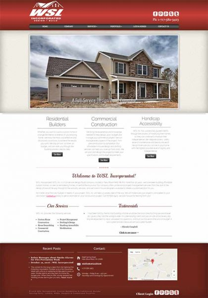 WSL Incorporated Website After