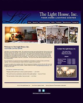 The Light House Website Before