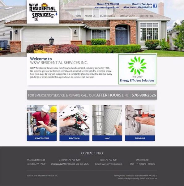 W & W Residential Services Webdrafter Redesign